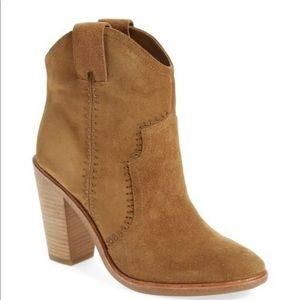 JOIE Monte Suede Studded Ankle Booties Boots